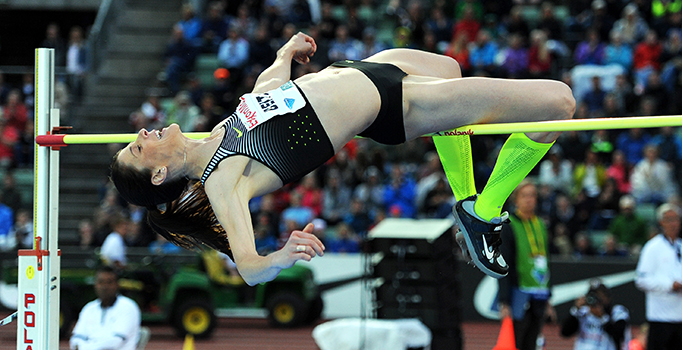 Ruth Beitia (ESP) cleared 1.90 winning the Women's High Jump at the 2016 ExxonMobil Bislett Games in Oslo