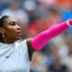 Serena Williams of US serves to Yaroslava Shvedova of Kazakhstan during their 2016 US Open Women's Singles match at the USTA Billie Jean King National Tennis Center in New York on September 5, 2016. / AFP / EDUARDO MUNOZ ALVAREZ        (Photo credit should read EDUARDO MUNOZ ALVAREZ/AFP/Getty Images)
